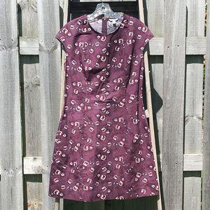 Gap Purple / Red Patterned Dress